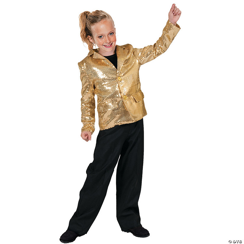 Boy's Gold Disco Jacket Costume