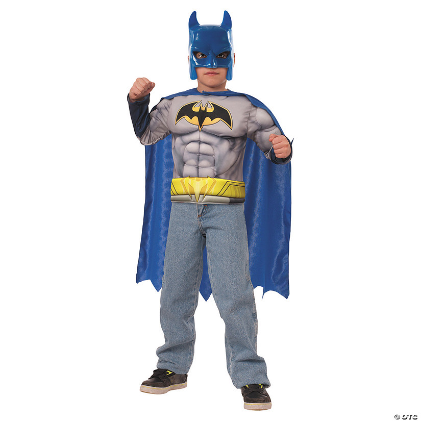 Boy's Muscle Chest Batman Costume - Small