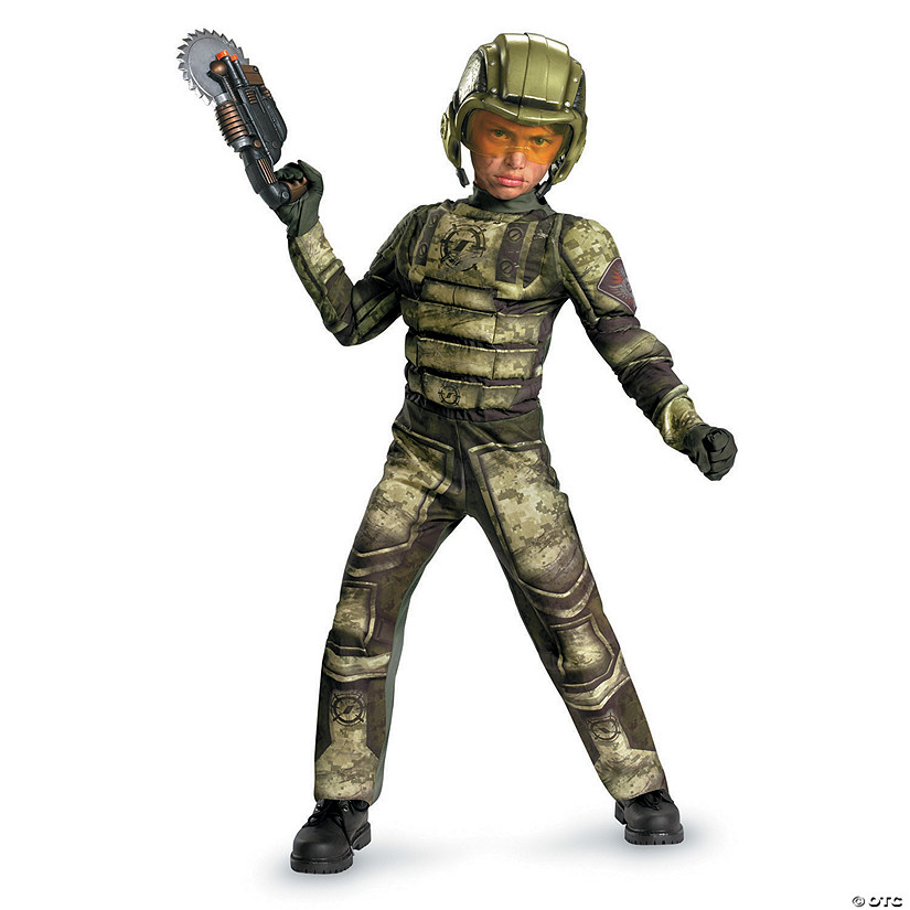 Boy's Muscle Foot Soldier Costume