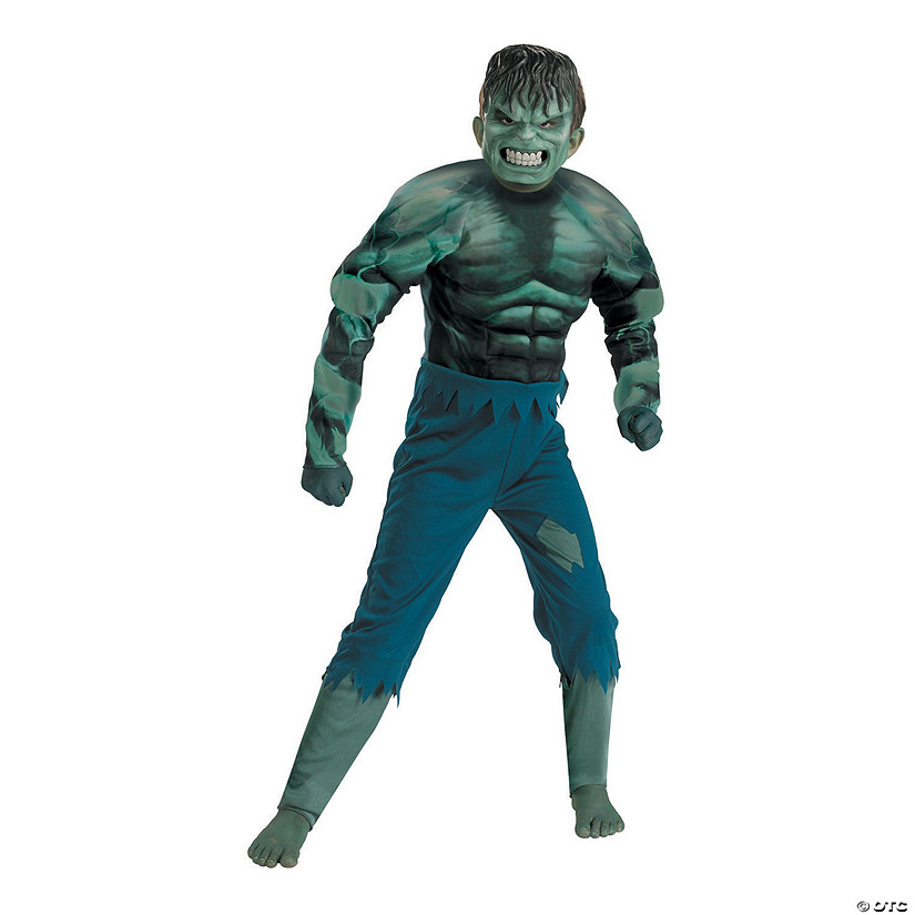 Boy's Muscle Hulk Costume