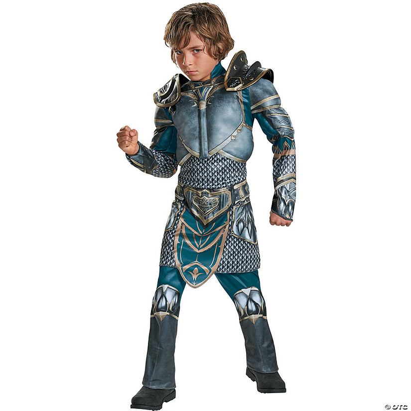 Boy's Muscle World of Warcraft Lothar Costume