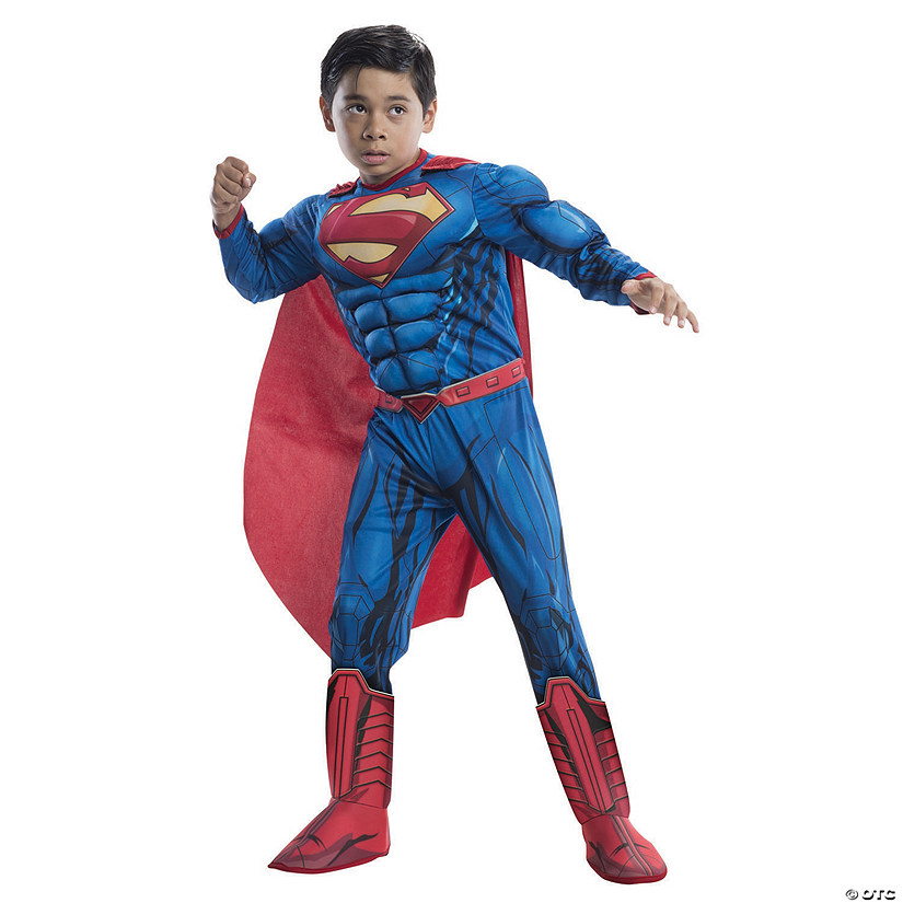 Boy's Photo Real Deluxe Muscle Chest Superman Costume