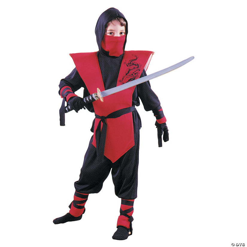 Boy's Red Ninja Costume
