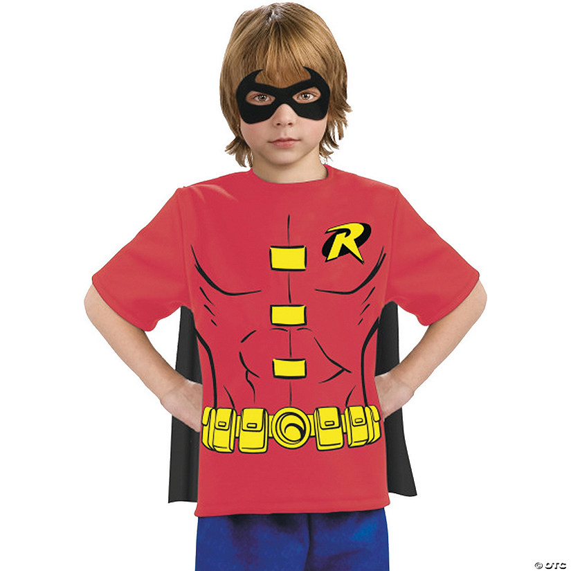 Boy's Robin Shirt with Cape Costume