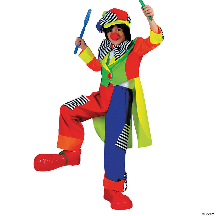 Boy's Spanky Stripes Clown Costume