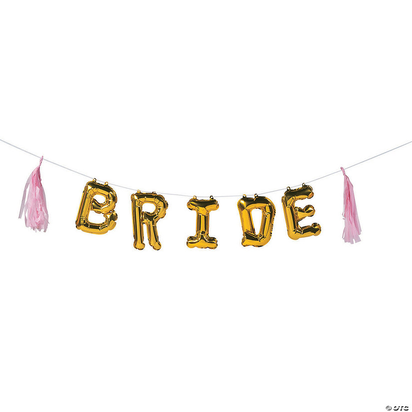 Bride Balloon Tassel Garland Banner