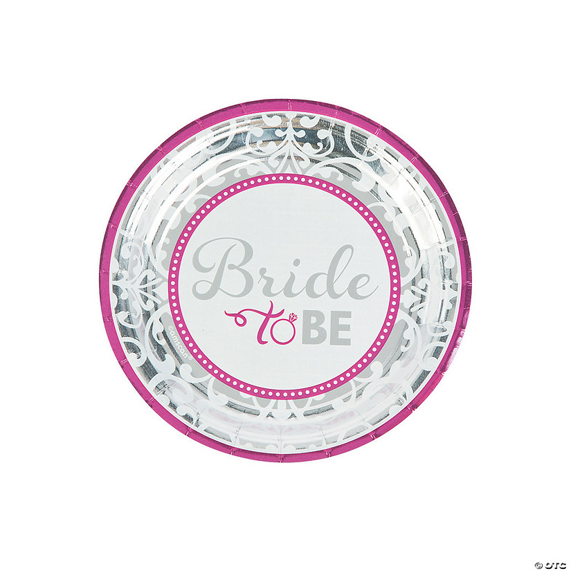 Bride to Be Paper Dessert Plates