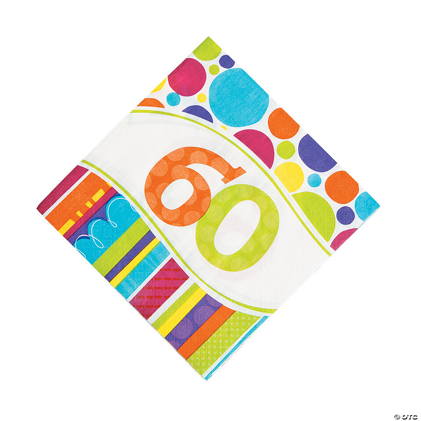 Bright & Bold 60th Birthday Luncheon Napkins