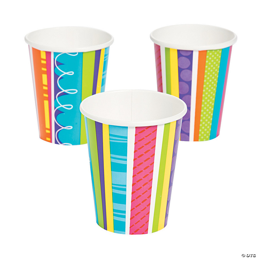 Bright & Bold Birthday Cups
