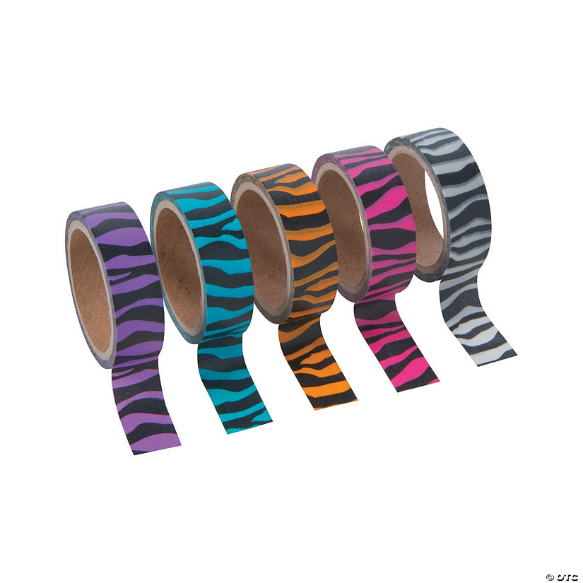 Bright Animal Print Washi Tape Set
