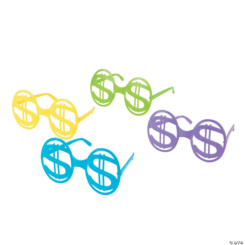 Bright Dollar Sign Glasses
