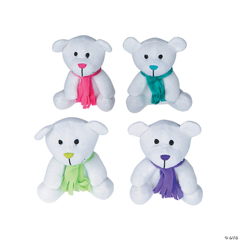 Bright Holiday Stuffed Bears