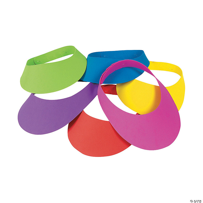 Bright Neon Visors Assortment