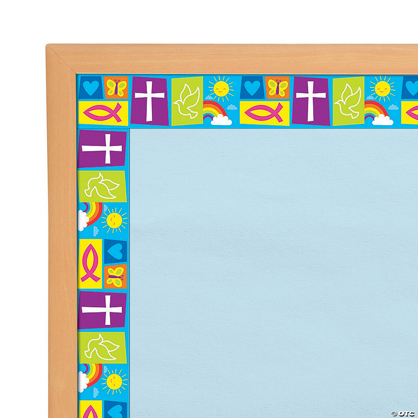 Bright Religious Symbols Bulletin Board Borders