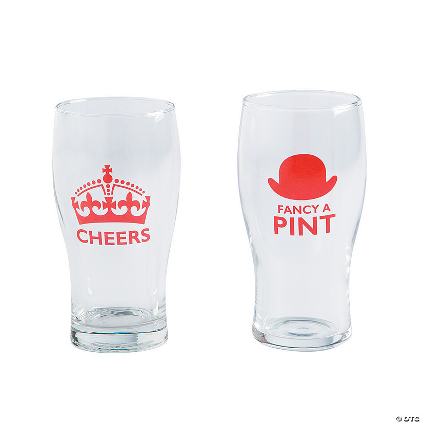 British Party Pint Glasses
