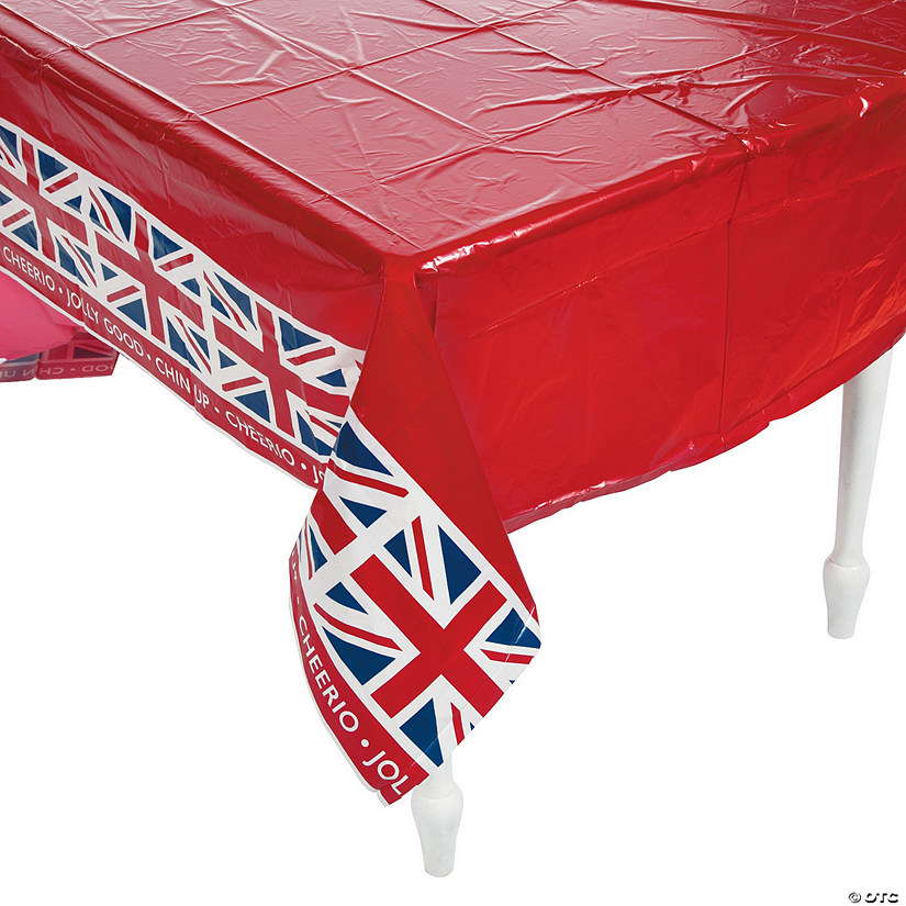 British Party Plastic Tablecloth