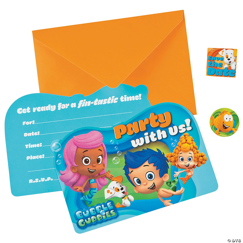 Bubble Guppies Invitations
