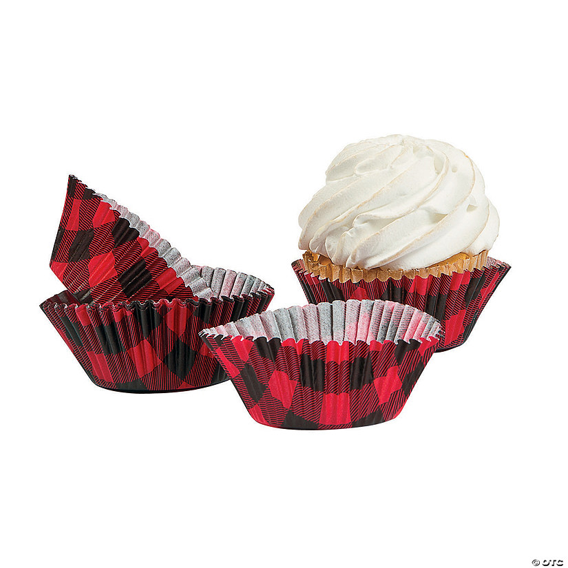 Buffalo Plaid Cupcake Liners