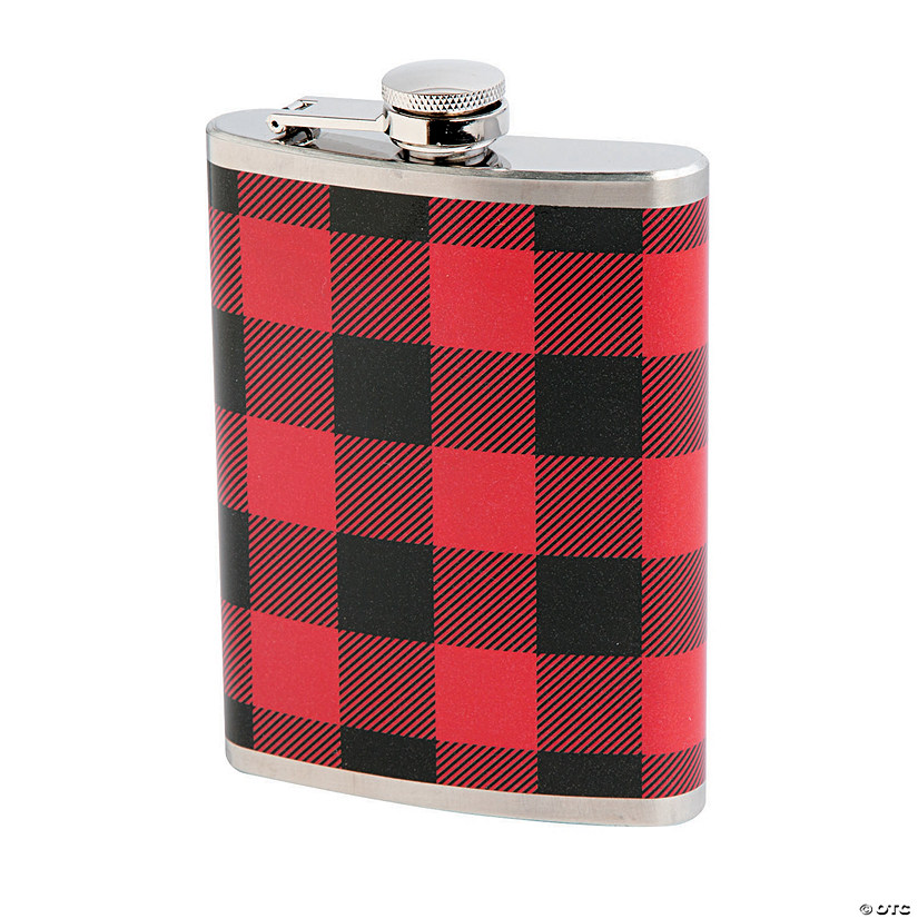 Buffalo Plaid Flask