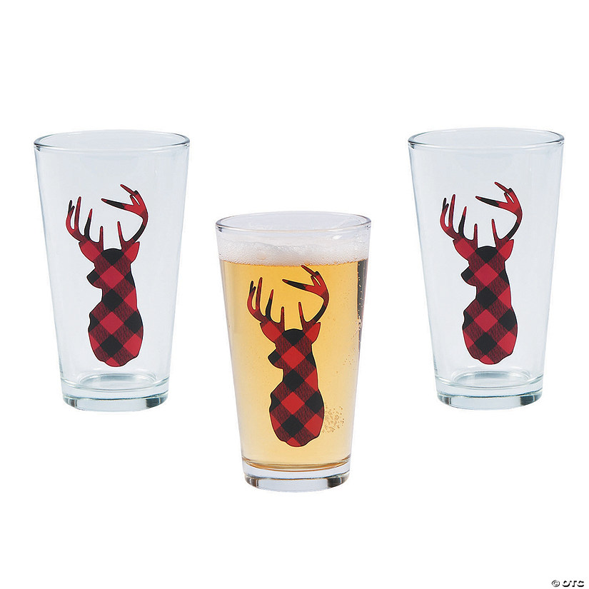 Buffalo Plaid Glass Tumblers