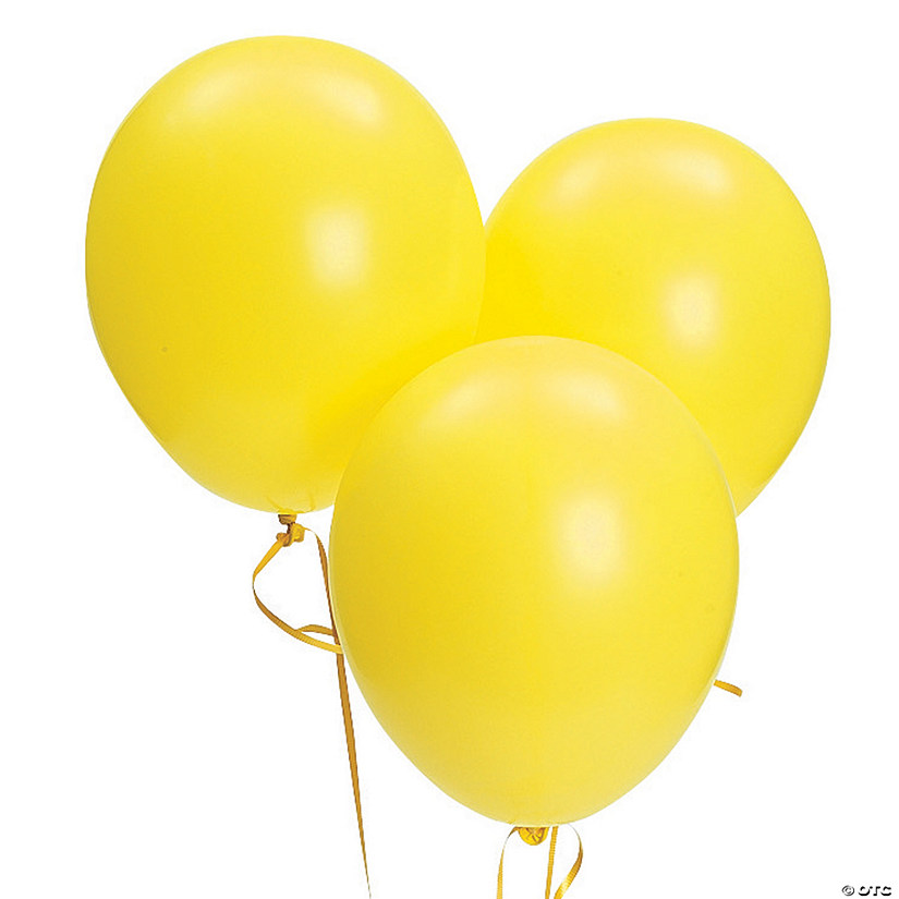 "Bulk Citrine Yellow 11"" Latex Balloons"