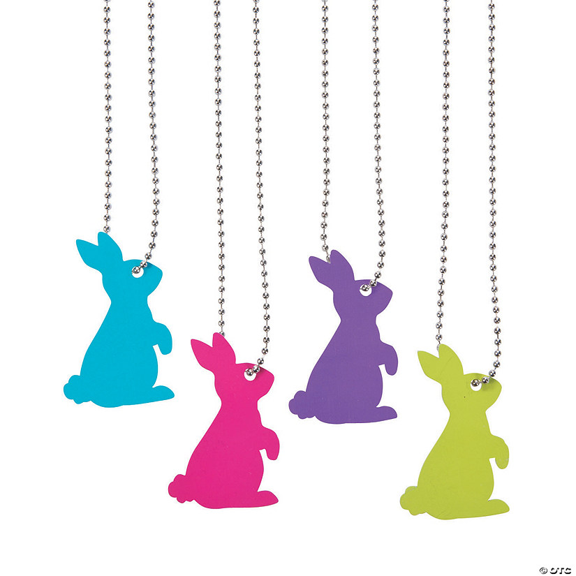 Bunny Cutout Dog Tag Necklaces