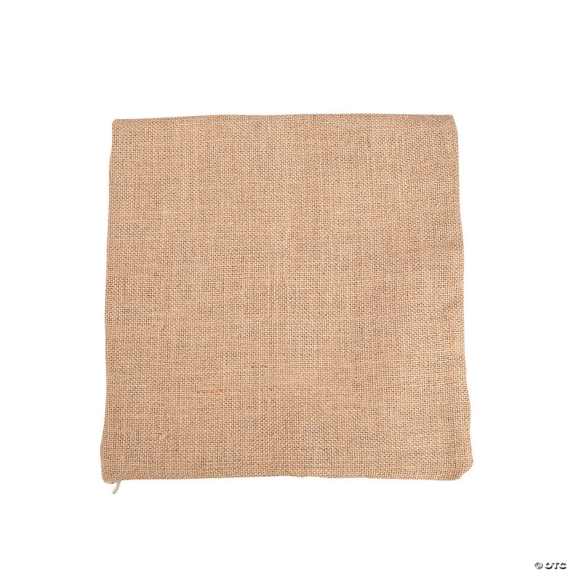 Burlap Pillow Square
