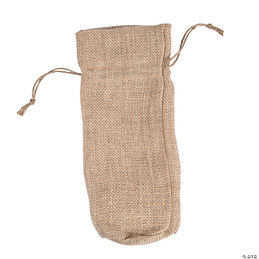 Burlap Wine Bottle Bag