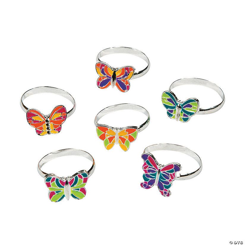 Butterfly Adjustable Rings