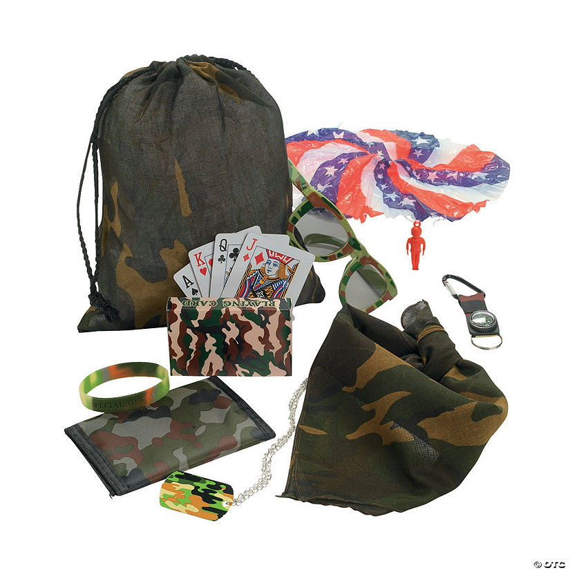 Camo Army Pre-Filled Drawstring Bags
