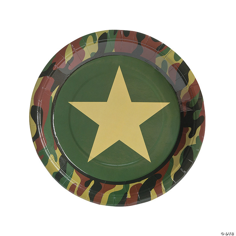 Camouflage Paper Dinner Plates