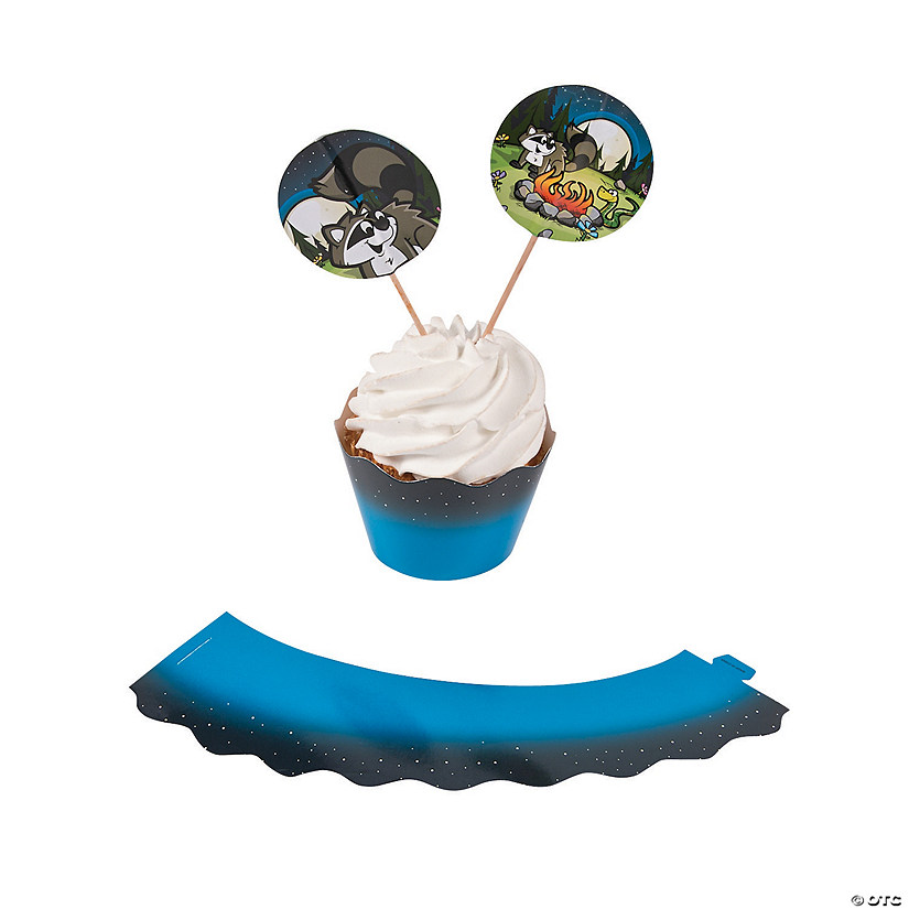 Camp Adventure Cupcake Wrappers with Picks
