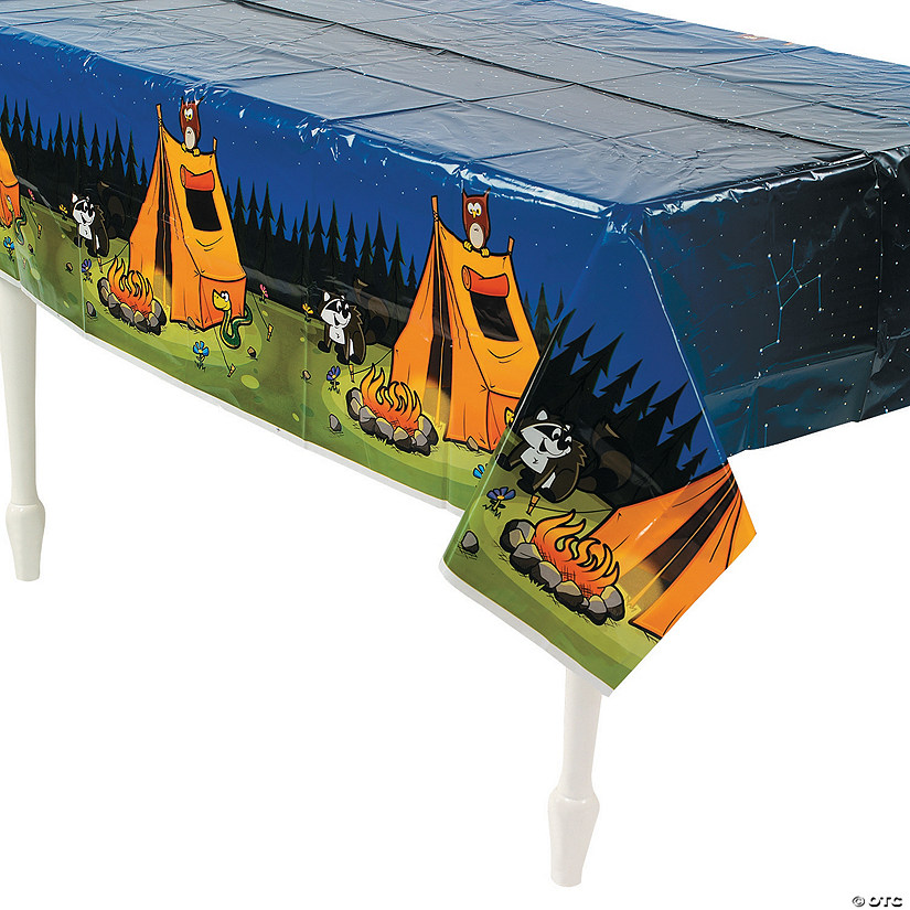Camp Adventure Plastic Tablecloth