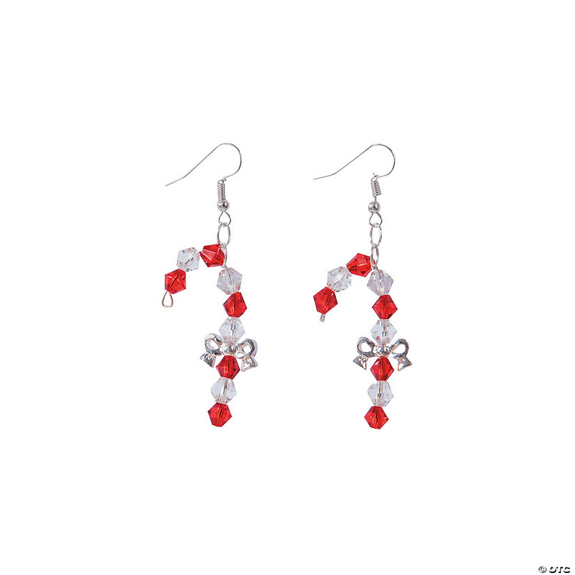 Candy Cane Bow Earrings Craft Kit