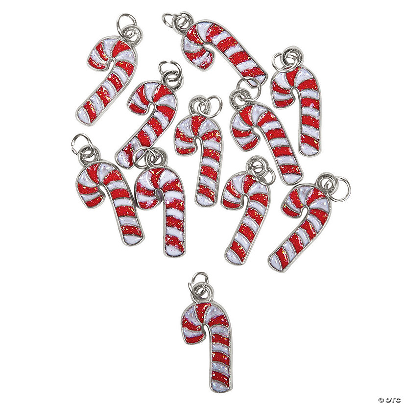 Candy Cane Enamel Charms
