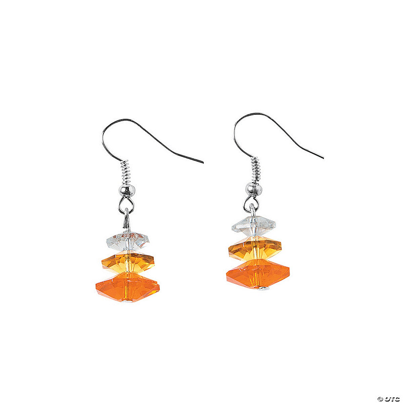 Candy Corn Crystal Earrings Craft Kit