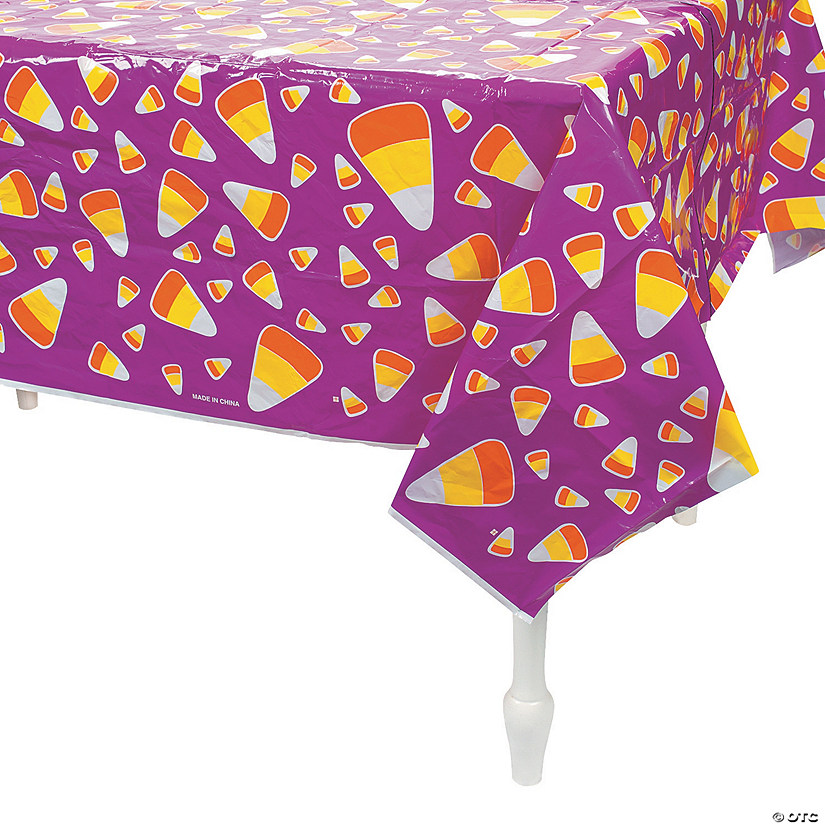 Candy Corn Plastic Tablecloth