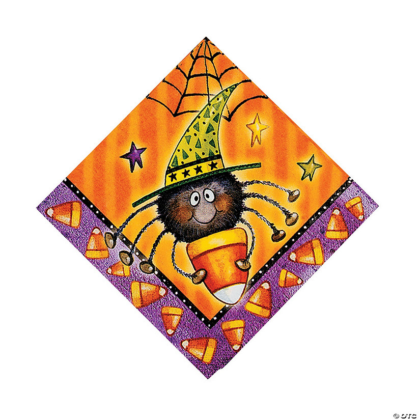 Candy Corn Spider Luncheon Napkins