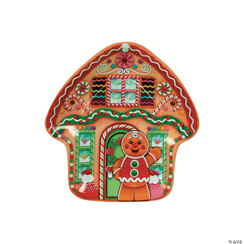 Candytown Shaped Paper Dinner Plates