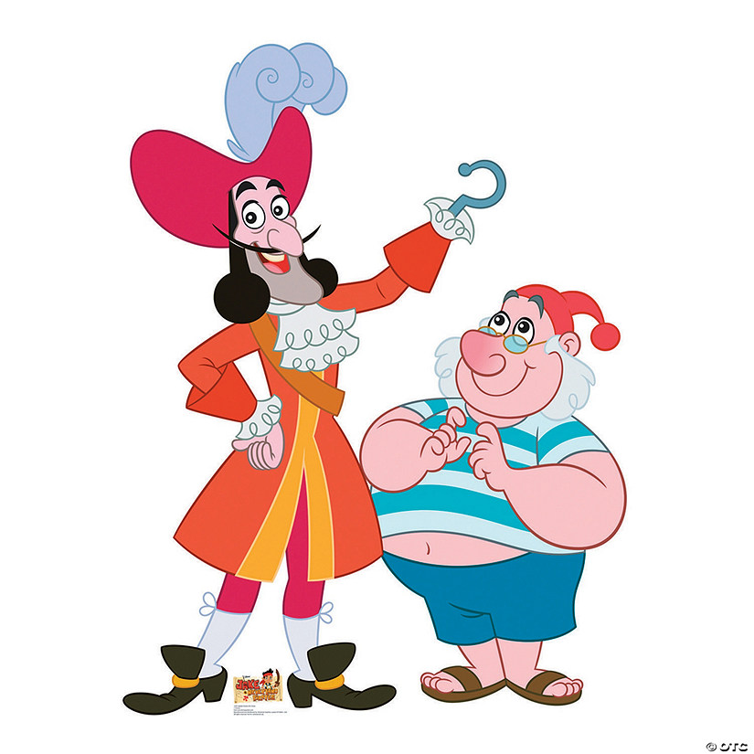 Captain Hook & Mr. Smee Cardboard Stand-Up