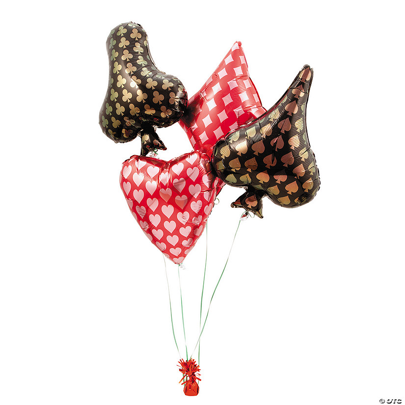 Card Suit Mylar Balloons