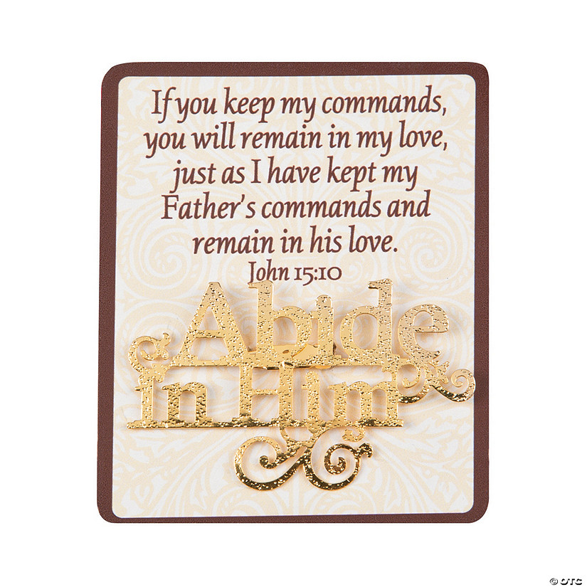 Card with Abide in Him Pins