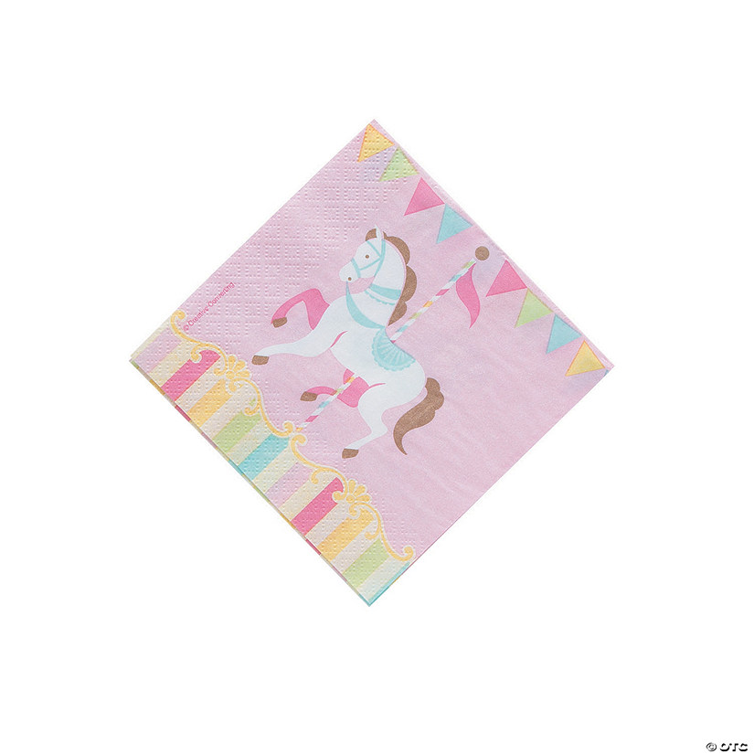 Carousel Baby Shower Paper Beverage Napkins