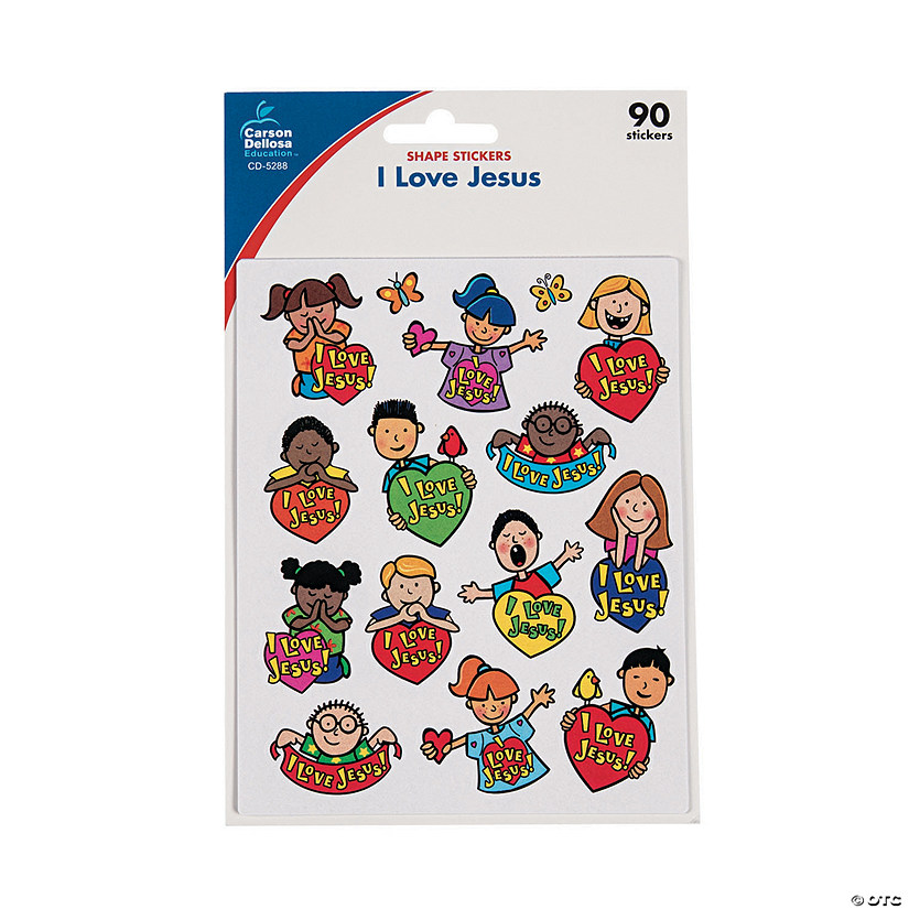 Carson-Dellosa® I Love Jesus Children Sticker Sheets