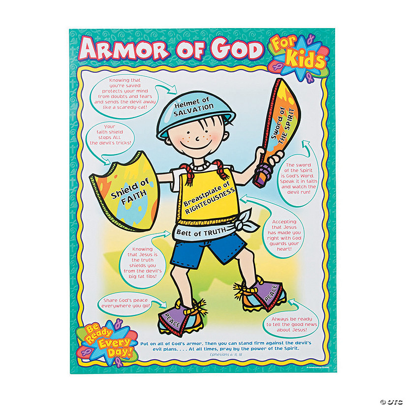 Carson-Dellosa<sup>®</sup> Armor of God For Kids Chart