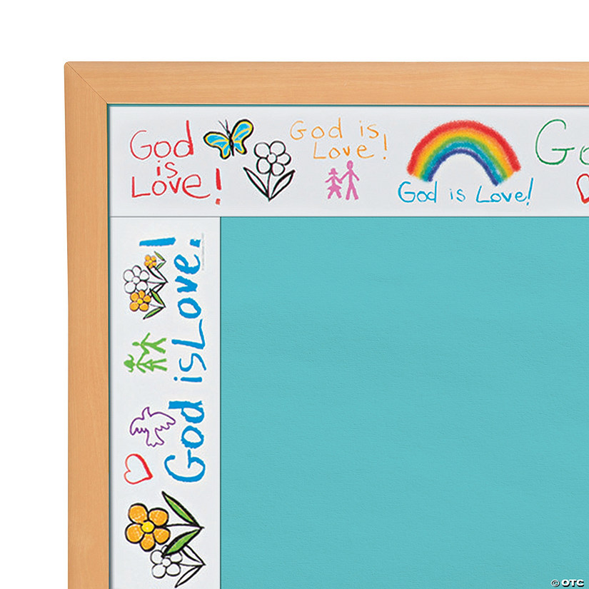 Carson-Dellosa<sup>®</sup> Kid-Drawn God Is Love Bulletin Board Border