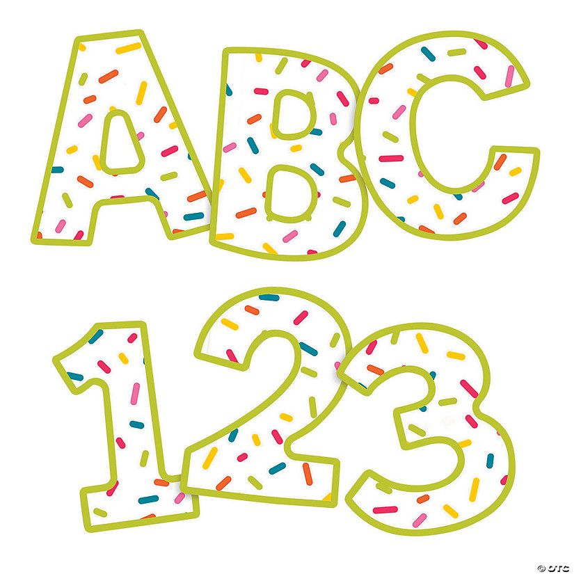 Carson-Dellosa<sup>®</sup> Rainbow Sprinkles Uppercase Bulletin Board Letters
