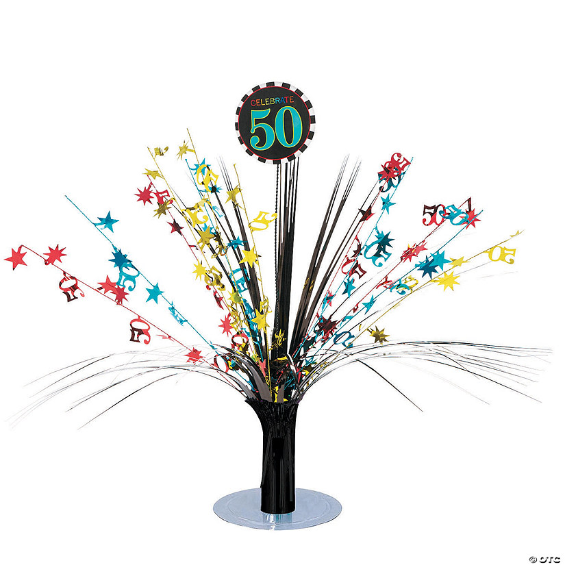 Celebrate 50th Birthday Centerpiece
