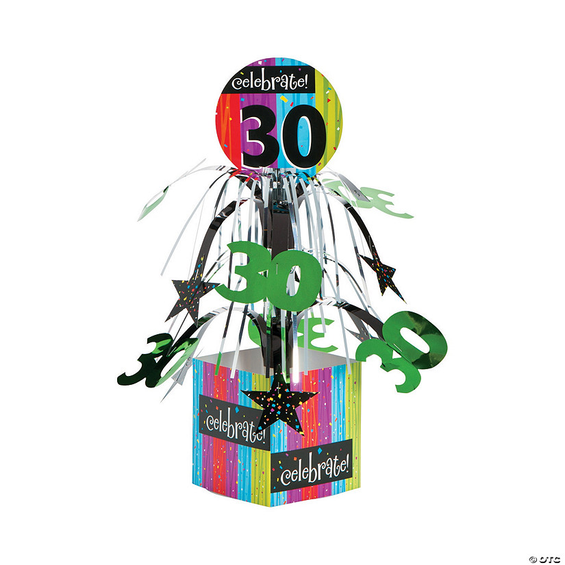 Celebrate Milestone 30th Birthday Centerpiece
