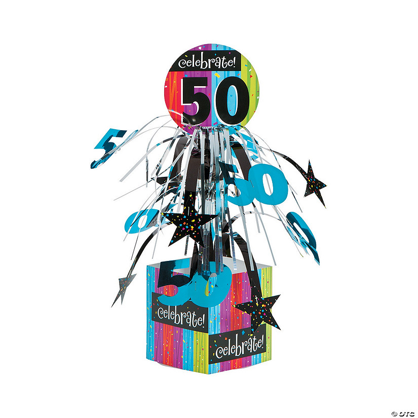 Celebrate Milestone 50th Birthday Centerpiece